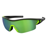OKULARY SCOTT LEAP BLACK MATT NEON GREEN CHROME+CL