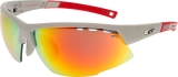 OKULARY GOGGLE E864-3 MATT GREY/RED CAT. 3/1/0