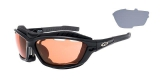 OKULARY GOGGLE T420-1 SYRIES BLACK/GREY CAT.2/3